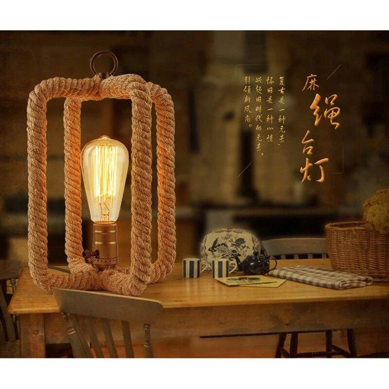 Ретро Bedlamp творческая личность спальня ресторан бар кофе веревка лампа GY52 LU1021