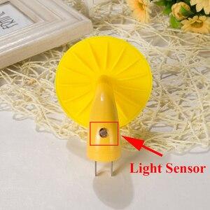 Image 5 - Beiaidi 따뜻한 노란색 버섯 led 밤 빛 센서 제어 침대 옆 테이블 램프 아기 침실 eu 미국 플러그 벽 소켓 빛