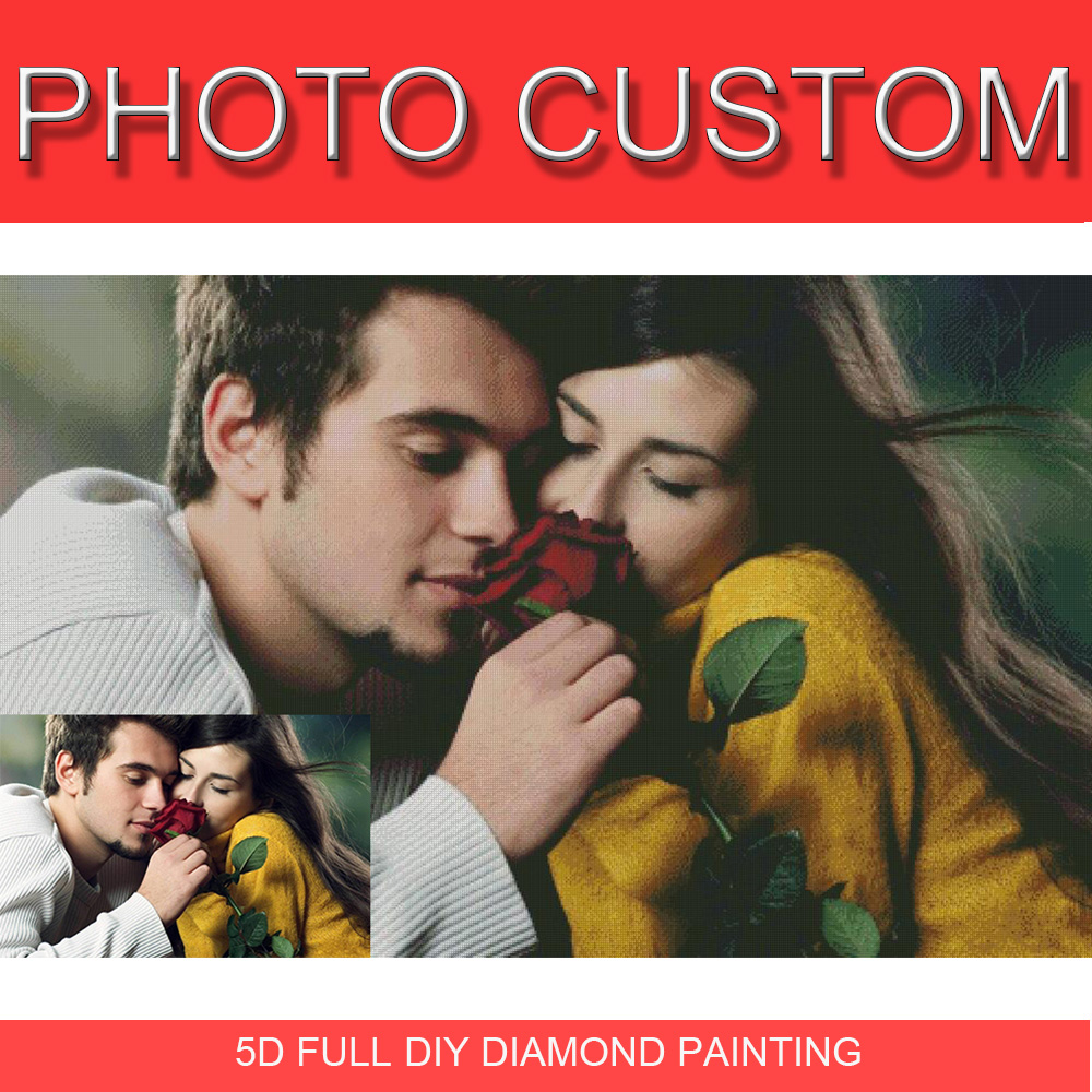 Diamond Painting Full Square/ Round 5D Daimond Painting Picture Custom Private Personal Customization Cross Stitch Mosaic 070XP