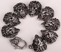 Stainless steel men bracelet skull cross biker heavy jewelry gifts wholesale dropshipping 313 silver tone