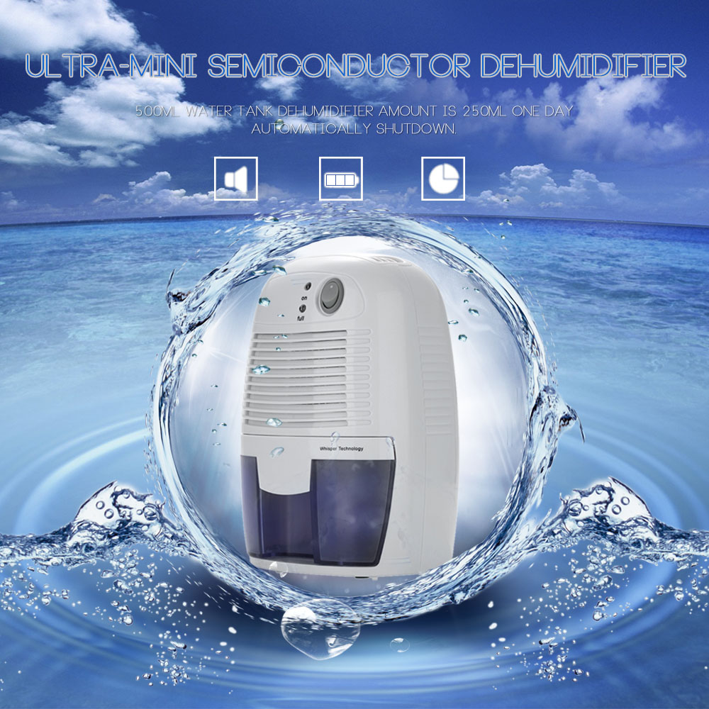 Home Mini Dehumidifier Air Dryer Moisture Absorbing Ultra mini Semiconductor Dehumidifier For Home Bedroom Office