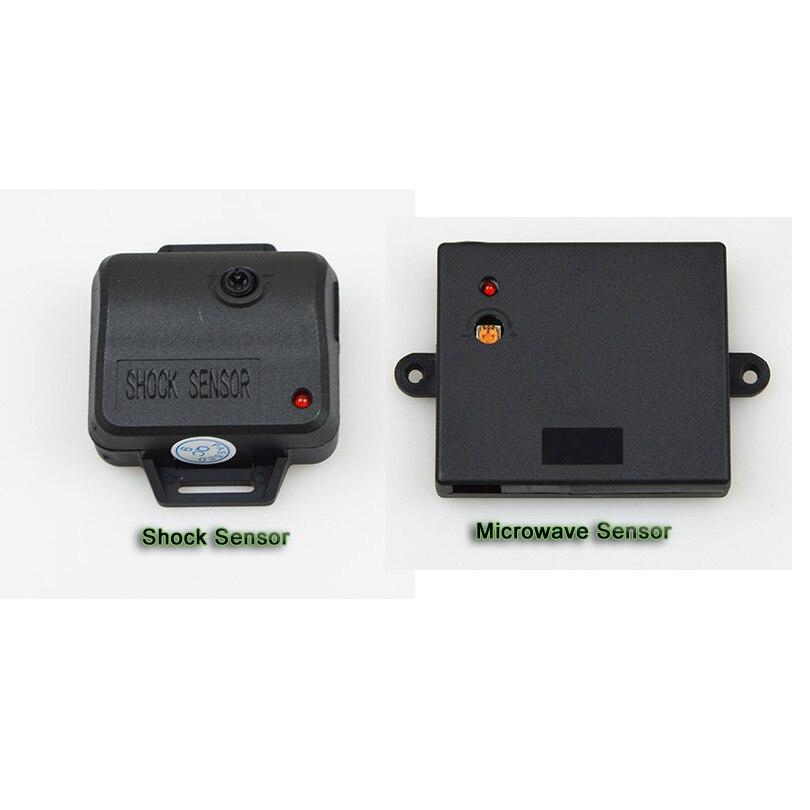 Système de sécurité automatique universel d'alarme de voiture de démarrage de moteur à distance avec le capteur à micro-ondes - 4