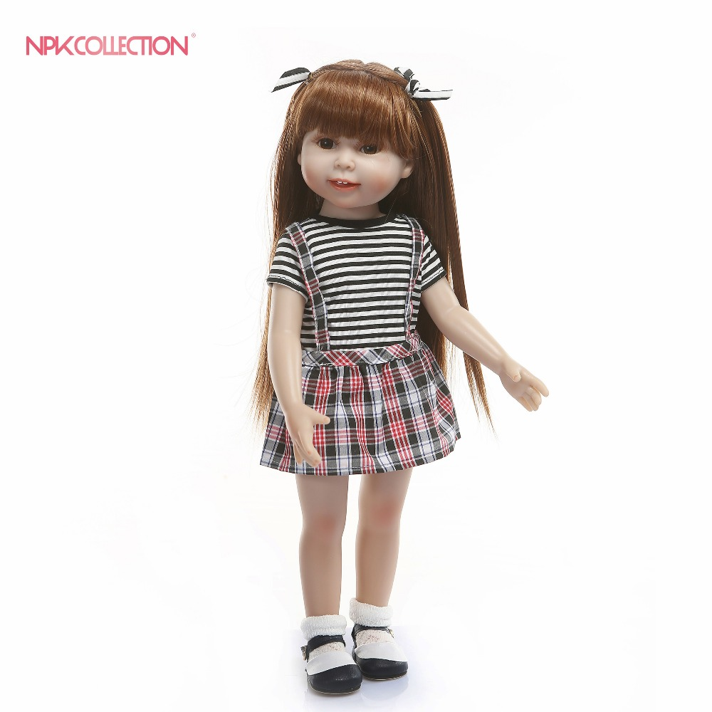 NPKCOLLECTION 45CM Full Body Silicone Reborn Baby Girl Dolls Reborn Can Bath Bebes Reborn Babies Dolls for Children bonecasNPKCOLLECTION 45CM Full Body Silicone Reborn Baby Girl Dolls Reborn Can Bath Bebes Reborn Babies Dolls for Children bonecas