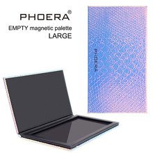 PHOERA Eyeshadow Magnetic Attraction Storage Box Case Makeup Pallete Eye Shadow Empty Magnetic Palette Glitter Patterns TSLM1(China)
