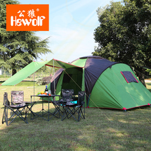 Hewolf new arrive high quality 4-6 person outdoor Travel camping tent