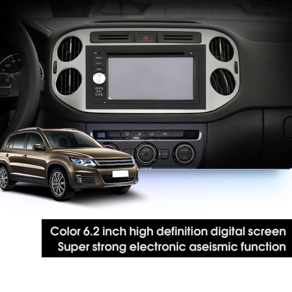 2019 New 6.2 inch Android Car Radio Stereo GPS Navigation 1 USB SD Touch Car Multimedia Player Audio Player Multi-window View