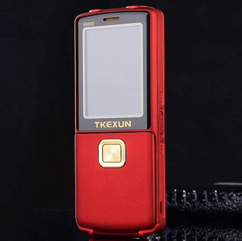 2017 Original TKEXUN 8800 8800i Flip Phone Dual Sim Camera MP3 MP4 Dual Flashlight 2 8