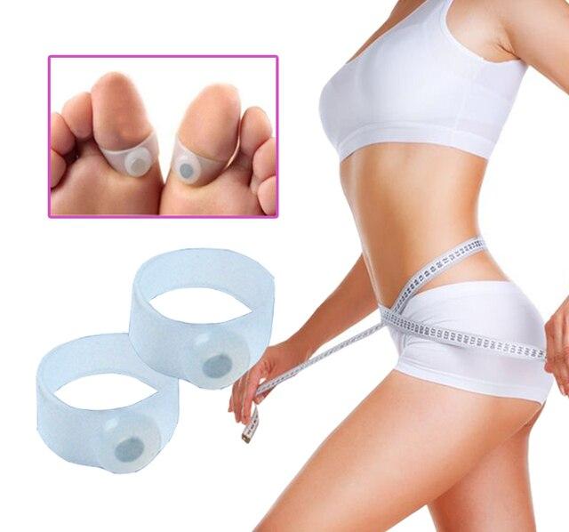 8 pcs/4 par Anel de Silicone Dedo Do Pé Magnético Massageador de Pés Cuidados Com Os Pés Para perda de Peso Emagrecimento Queima de Gordura Perda De Peso cuidados de Saúde a perda A033