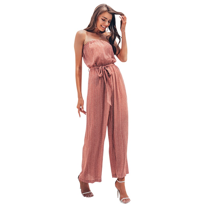 43744df048 Simplee Off shoulder sexy jumpsuit women elegant Sashes jumpsuit long  rompers Summer solid leopard print overalls