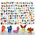 144 Pçs/lote Modelos Miniaturas Nanoblocks Pikachu mini-figuras PVC 2-3 cm Mini Jogo figura Zekrom Vaporeon Vulpix Vinil figura Brinquedos
