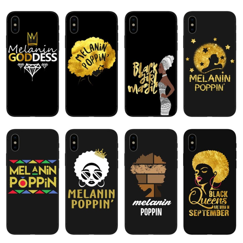 2bunz Melanin Poppin Pink Princess Girls Hard Phone Cases For Apple Iphone X 10 5 5s Se 6 6s Plus 7 Xs Max Xr 8 8plus Bags Cover Clothing, Shoes & Accessories