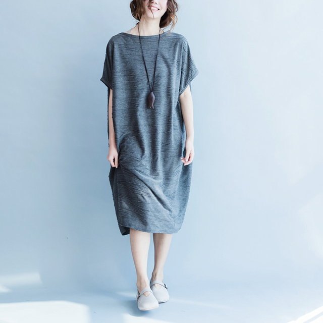 1c833b4591a New 2018 summer plus size women clothing vintage brief vestidos robe femme  long dresses cotton short