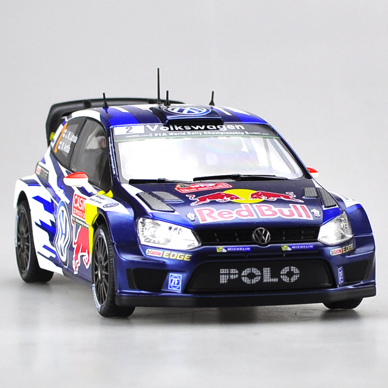 Brand New YJ 1/18 Scale Car Model Toys Volkswagen Polo R WRC Diecast Metal Car Toy For Gift/Kids/Decoration/Collection maisto jeep wrangler rubicon fire engine 1 18 scale alloy model metal diecast car toys high quality collection kids toys gift