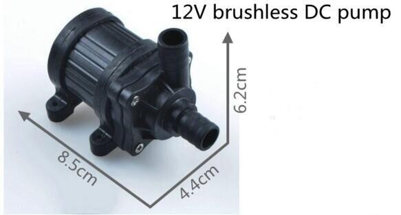 Mini pompe sans brosse de certificat de la CE DC 12 V pour le système de refroidissement de brume avec le fil masculin du pressostat 20mm