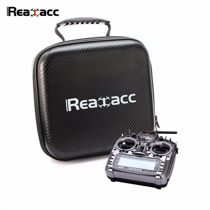 Original Realacc Zipper Handbag Hard Case Carrying Bag Black For Frsky X7 X9D FlySky i6S Remote Control Transmitter RC Models