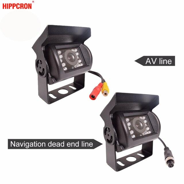 Bus and Truck Rear Camera with 18 LED 24V Navigation / AV Line Reversing Parking Waterproof Truck Night Vision