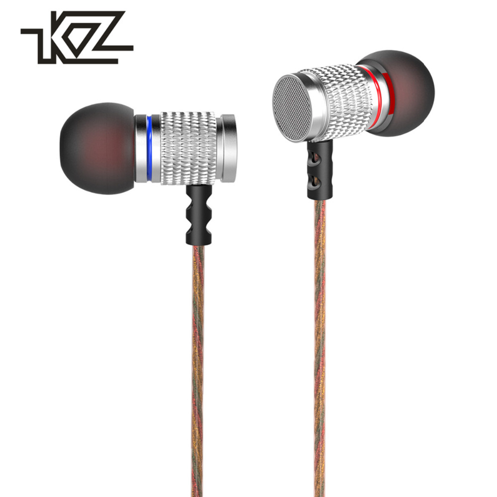 KZ EDR2 In-ear Earphone Subwoofer Metal Hifi Sport Headset Noise Cancelling Music Earbud Earpieces for Mobile Phone iPod