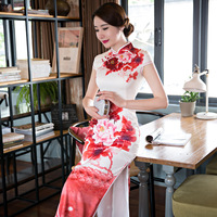 Top Selling New Arrival Chinese Traditional Style Dress Women's Long Cheongsam Qipao Clothing Size S M L XL XXL F052707