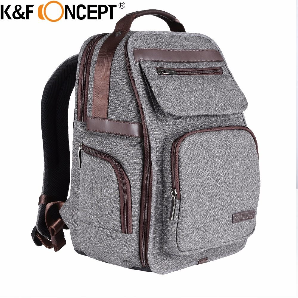 K&F Concept Upgraded Camera Backpack Large Capacity for 10 Ipad 14 Laptop Travel Photo Bag Side Compartments Water Resistant lowepro protactic 450 aw backpack rain professional slr for two cameras bag shoulder camera bag dslr 15 inch laptop