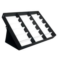 New 18 Sunglasses Glasses Display Stand Storage Box Caseray Black Sunglasses Eye Wear Display Tray Case for Glasses Retail Shop