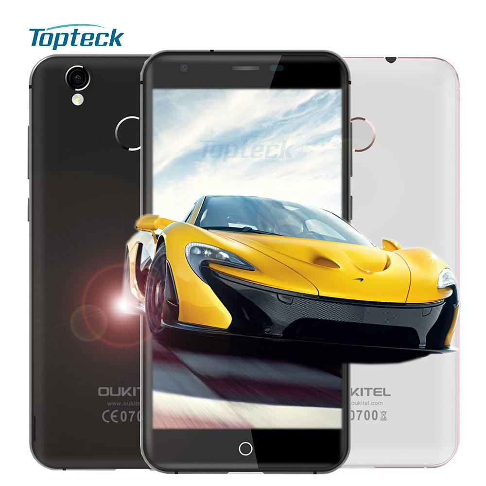 """bilder für Auf Lager Oukitel K7000 4G Fingerprint Smartphone Android 6.0 MTK6737 Quad Core 5,0 """"HD IPS Handy 2 GB + 16 GB 5MP Handy"""