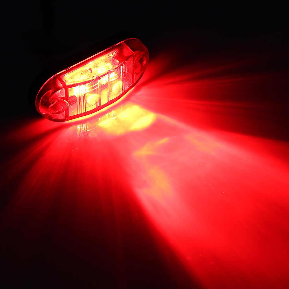 1 шт.. автомобильные Внешние огни DC 12 светодиодный LED авто автобус грузовик светодиодный Светодиодный боковой маркер индикатор низкий светодиодный Светодиодный прицеп свет задняя сторона лампа