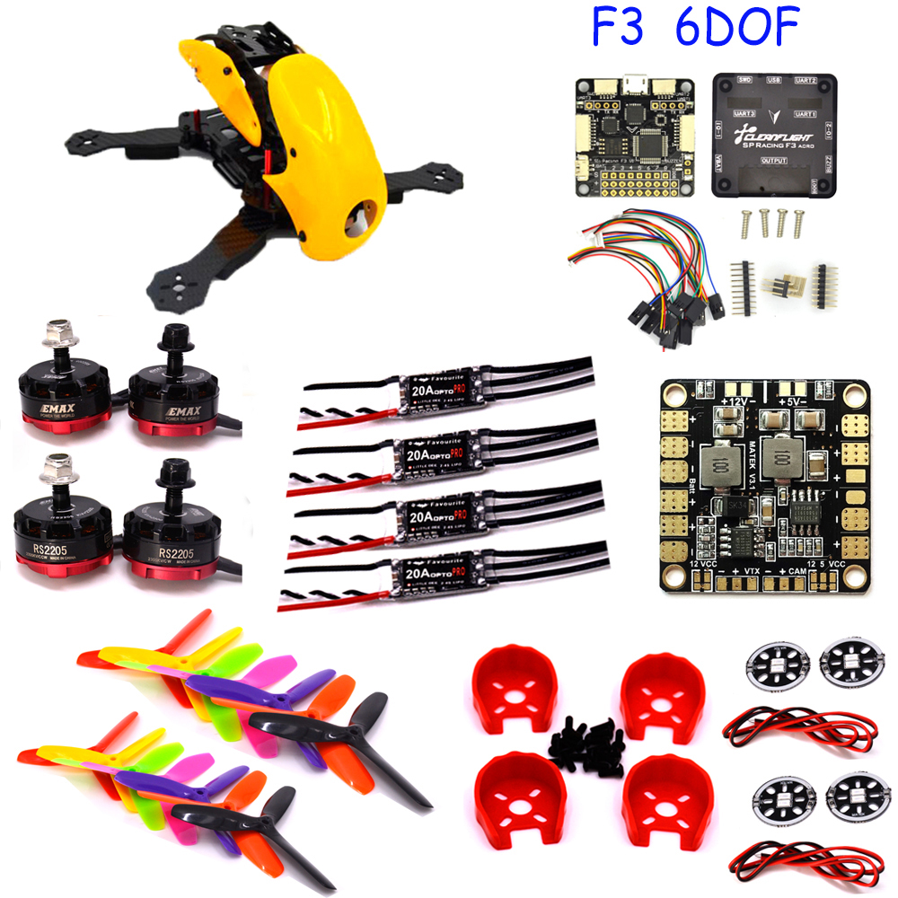 FPV Robocat 4-Axis Carbon Fiber Quadcopter Frame F3 Flight Controller Board 6DOF/10DOF Deluxe RS2205 Motor littlebee 20A Pro ESC rc plane 210 mm carbon fiber mini quadcopter frame f3 flight controller 2206 1900kv motor 4050 prop rc