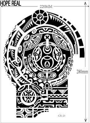 1lot=1pcs arm +1pcs chest waterproof tattoo stickers cx- 21 prothorax twinset big 3d tatoo stickers men 3