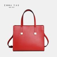 EMMA YAO women's leather crossbody bag fashion korean tote bag brand shoulder bags