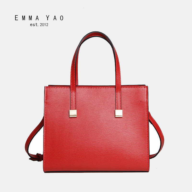 EMMA YAO women's leather crossbody bag fashion korean tote bag brand shoulder bags emma yao women bag leahter shoulder bags famous brand crossbody bags