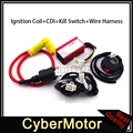Racing Ignition Coil 5 Pin AC CDI Wiring Loom Harness Kill Switch For Chinese Pit Dirt Motor Bike Motorcycle 50cc - 160cc Engine
