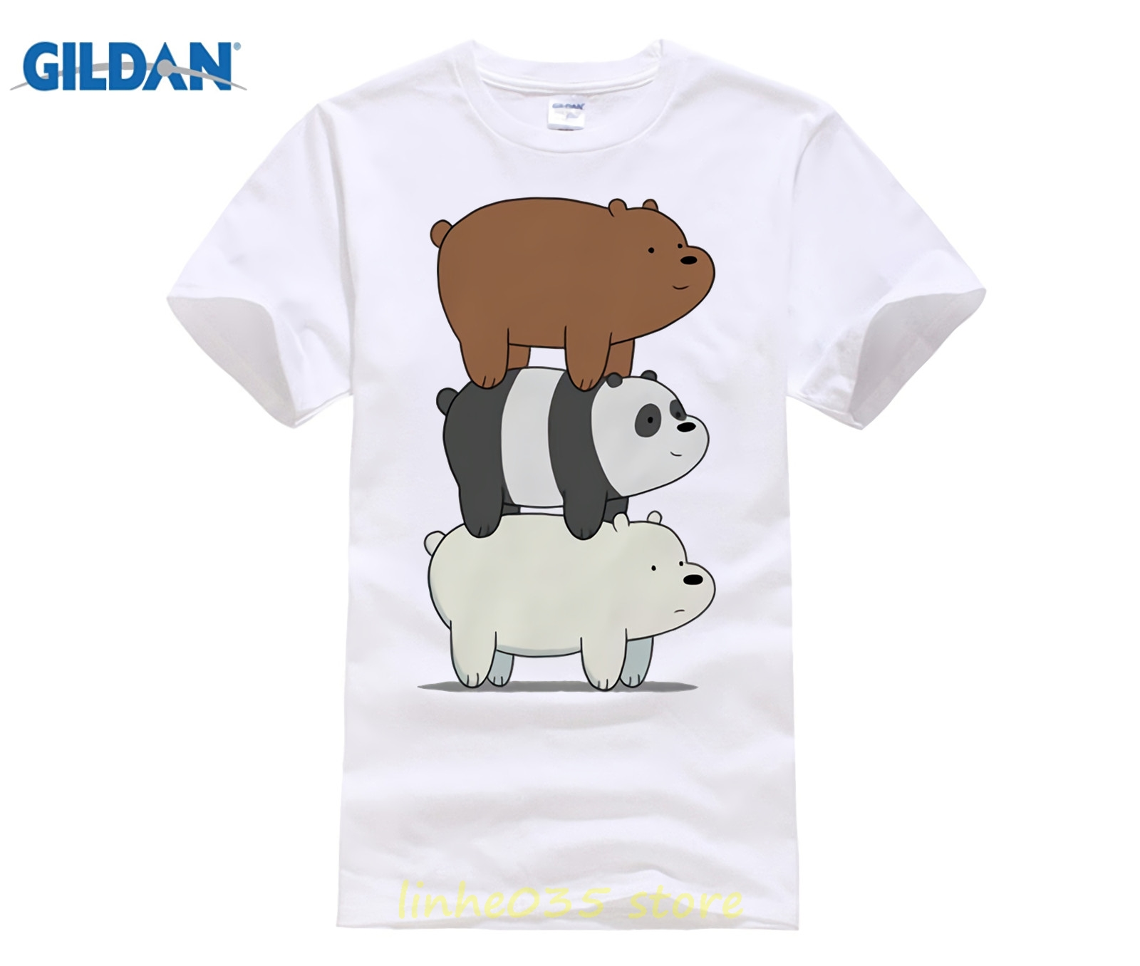 ae11ae2b65a We Bare Bears Grizzly Panda Ice Bear new t shirt man Short sleeve fashion  summer printing