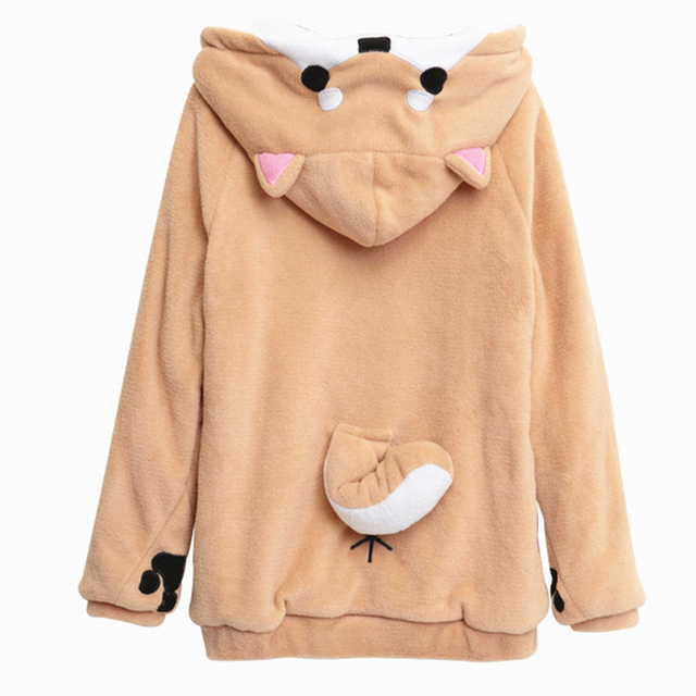 Bts Harajuku Hoodies Women Kawaii Sweatshirt Winter Plush Hoody Cute Doge Muco Pullovers Hooded Anime Sweatshirts Sudadera Mujer