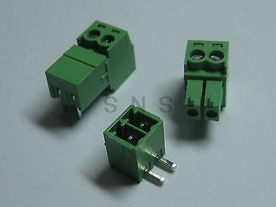 150 pcs Screw Terminal Block Connector 3.81mm Angle 2 pin Green Pluggable Type 150 pcs screw terminal block connector 3 5mm angle 7 pin green pluggable type