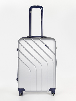 Hard shell case medium 4 wheels-63X43X26-Silver