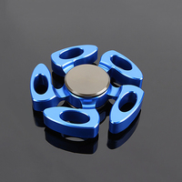 Top Fidget Spinner Hand Spinner Metal EDC Red Space Aluminum Finger Spinners Figet Spiner 688 Bearing
