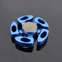 Top Fidget Spinner Hand Spinner Metal EDC Red Space Aluminum Finger Spinners Figet Spiner 688 Bearing