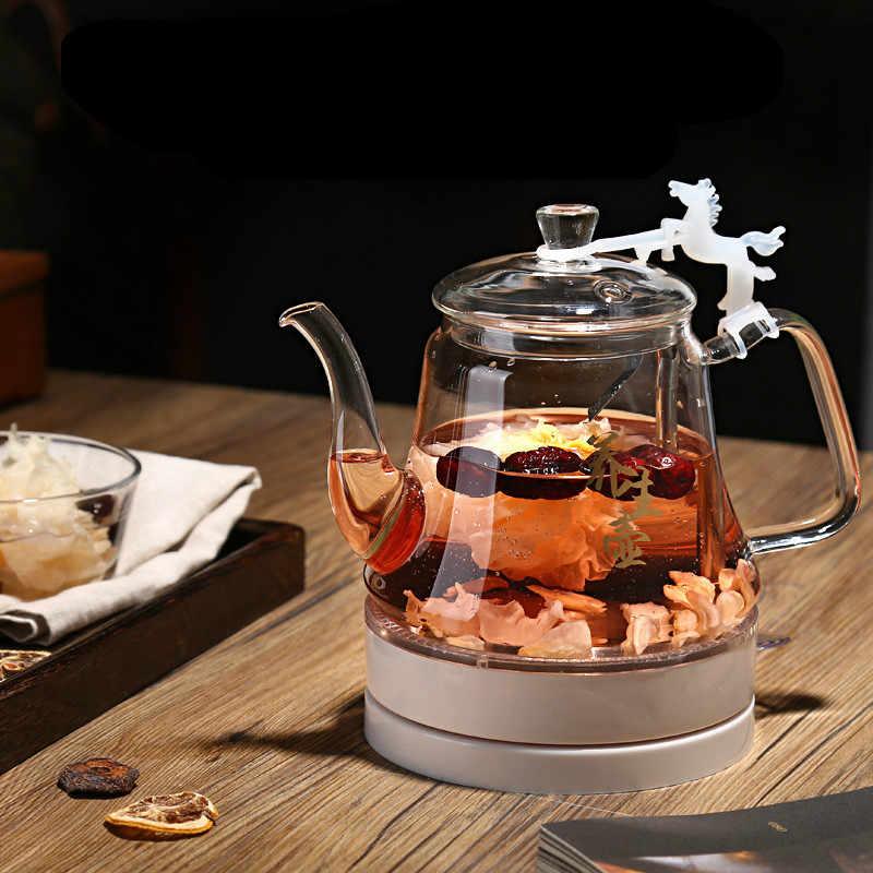 Электрический чайник стеклянный Электрический используется быстрая приготовление чая защита от перегрева