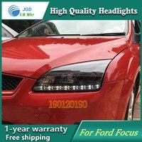 JGD Фирменная Новинка стиль для Ford Focus светодиодные фары 2005 2008 фар Биксеноновые голову светодиодные лампы ДРЛ Освещение