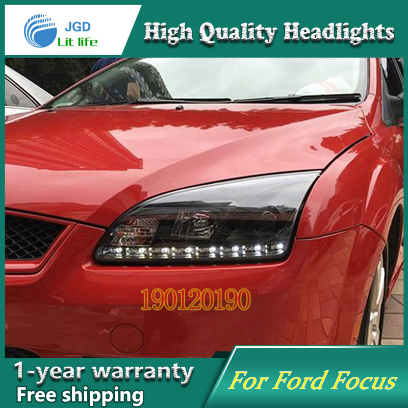 JGD Brand New Styling for Ford Focus LED Headlight 2005-2008 Headlight Bi-Xenon Head Lamp LED DRL Car Lights цена