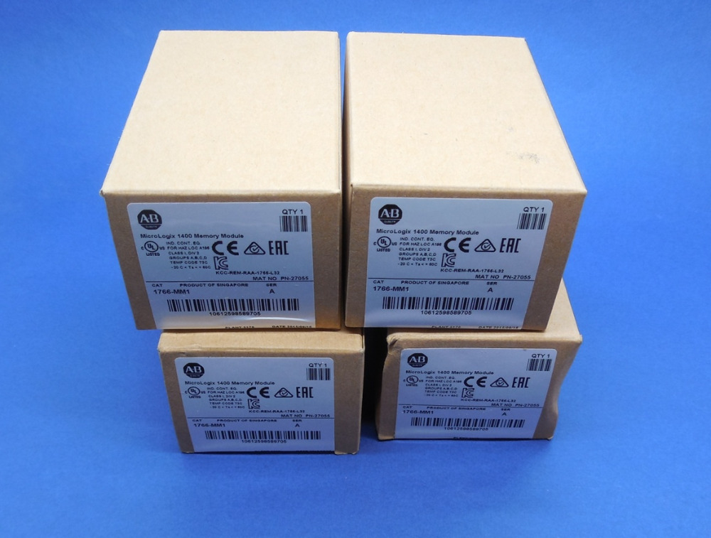 ALLEN BRADLEY MICROLOGIX 1400 1766-MM1 /A 1766MM1 2015 MEMORY MODULE allen bradley 1766 l32bwa new and original factory sealed have in stock