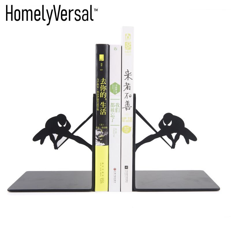 Creative Marvel spider man Metal Desk Stands Bookend Holder Home Decoration Office School Supplies Stationery Gift