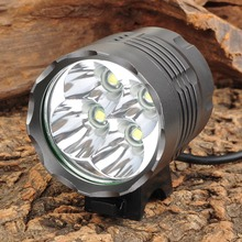 LED Flashlight Bike-Lamp 3000lm 3-Mode T6 White 4-LED Waterproof