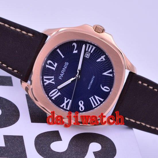 Карнавал мужские бизнес Тритий Светящиеся автоматические механические часы наручные часы золотой ободок белый циферблат - 3
