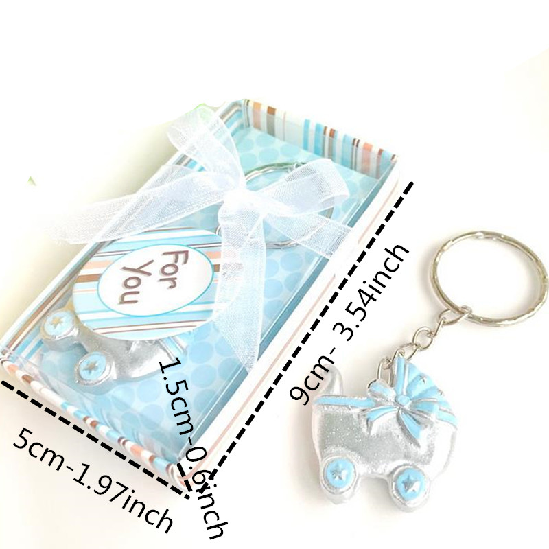 10 Personalised Bookmark Favours Baby ShowerPink Keys