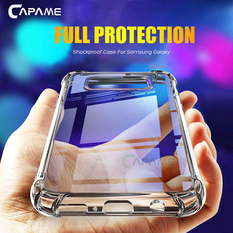 CAPAME Soft Case For Samsung Galaxy S8 S9 Plus Note 8 9 Shockproof Silicone Case For Samsung S9 Case S6 S7 Edge Phone Cases S8