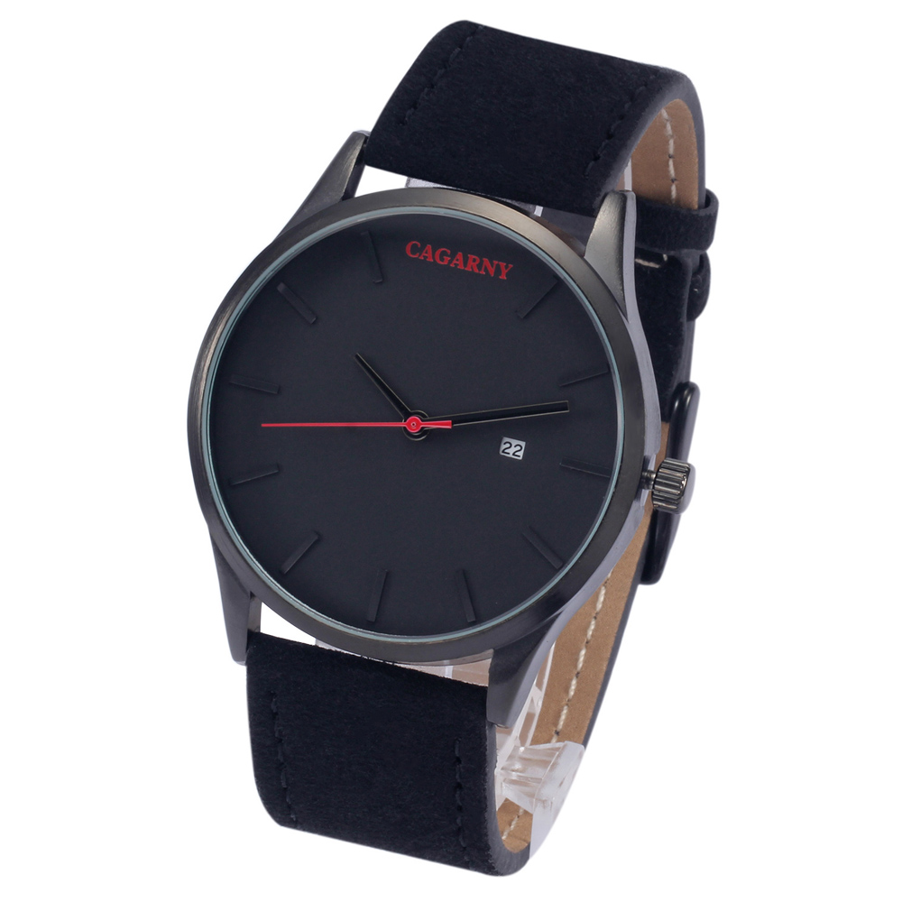 Cagarny Classic Watches 40MM Mens Analog Minimalist Watch Casual Mens Quartz Wristwatches Waterproof Date Leather Strap relogioCagarny Classic Watches 40MM Mens Analog Minimalist Watch Casual Mens Quartz Wristwatches Waterproof Date Leather Strap relogio