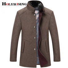 Holyrising wool coat 겨울 코트 남성 두꺼운 윈드 브레이커 woollen overcoat casaco masculino palto jaket peacoat 5xl jacket 18897-5(China)