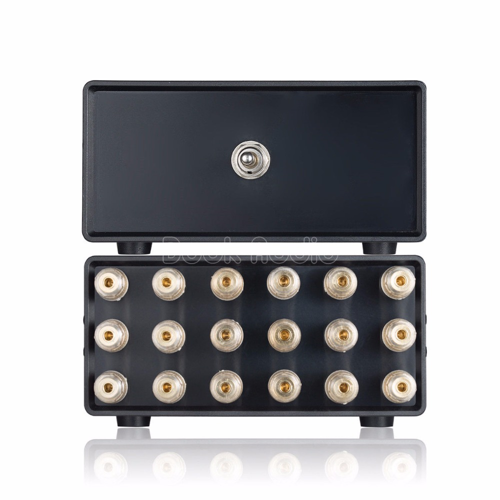 Tüketici Elektroniği'ten Amplifikatör'de Nobsound Mini 2.1 Kanal 2 (1) IN 1 (2)  OUT Amplifikatör Hoparlör ses dağıtıcı kablosu Switcher Seçici title=