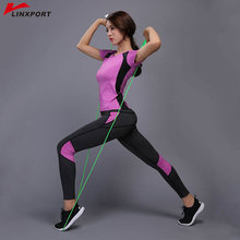 Sexy Yoga Set Compressed Leggings Gym Fitness Clothes Tennis Shirt or Pants Optional Sport Suit Reflective Women Yoga Capris Set(China)